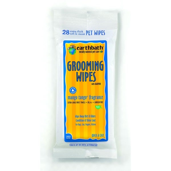EarthBath Mango Tango Grooming Wipes (28 Count)