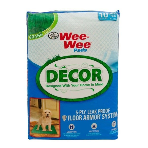 Four Paws Wee Wee Pads Decor Grass