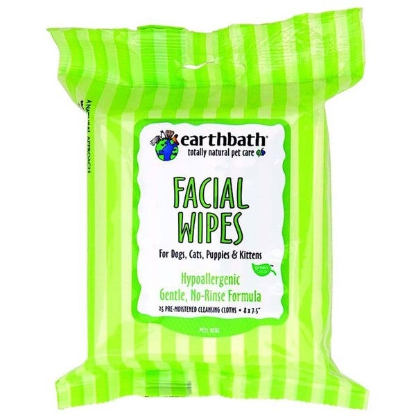 Earthbath Pet Grooming Hypo-allergenic Face Wipes (Pack of 25)