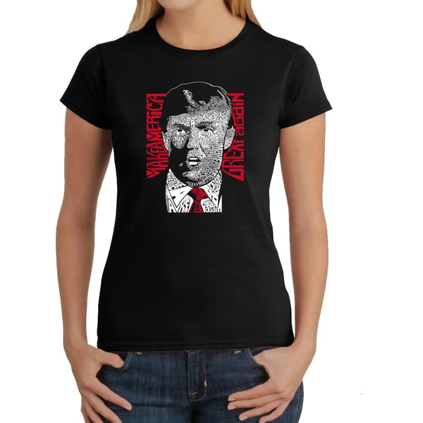 LA Pop Art Women's Donald Trump T-Shirt