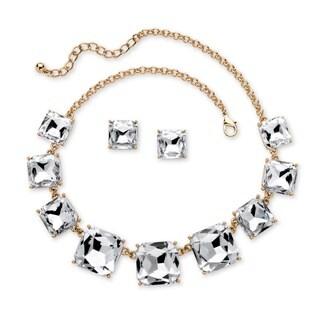 PalmBeach Goldtone Bold Fashion Crystal Jewelry Set
