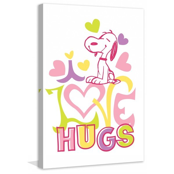 "Marmont Hill - ""Love Hugs"" Peanuts Print on Canvas"
