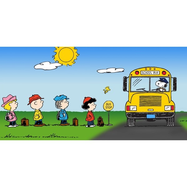"""Marmont Hill - """"Bus Stop"""" Peanuts Print on Canvas"""