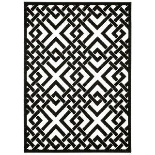 Nourison Ultima Ivory Black Rug (7'9 x 10'10)