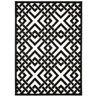 Nourison Ultima Ivory Black Rug (7'6 x 9'6)