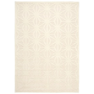 Nourison Ultima Silver Ivory Rug (5'3 x 7'3)