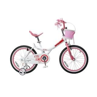 RoyalBaby Jenny Princess Pink Girl's Bike with Kickstand and Basket