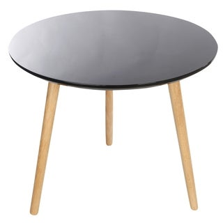 Kathy Ireland Black Top Accent Table