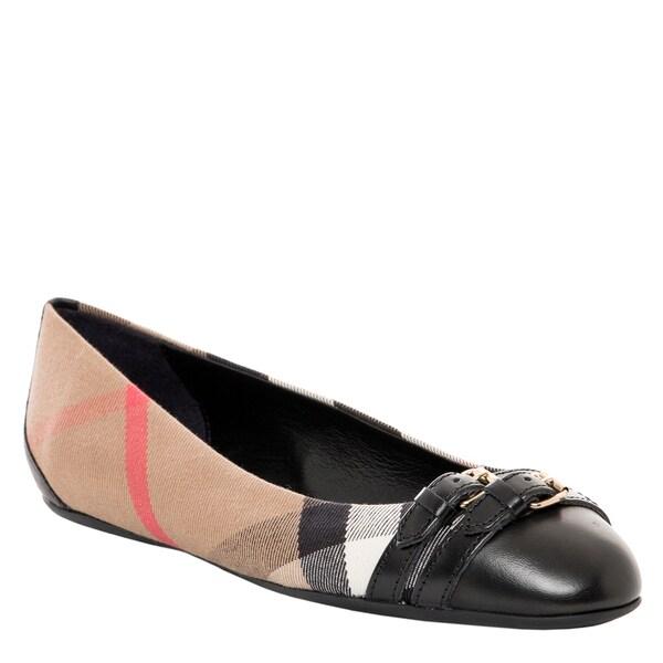 Burberry Bridle Housecheck Ballerina Flats