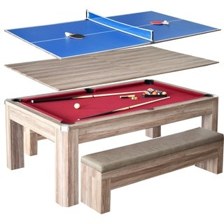 Newport 7-foot Pool Table Combo Set with Benches