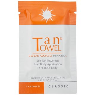 TanTowel Plus Half-Body Self-Tan Towelettes (Pack of 10)