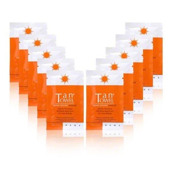 TanTowel Plus Half-Body Self-Tan Towelettes (Pack of 10)