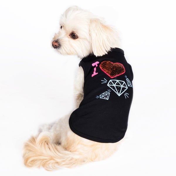 Dogs of Glamour I Heart Diamonds Shirt