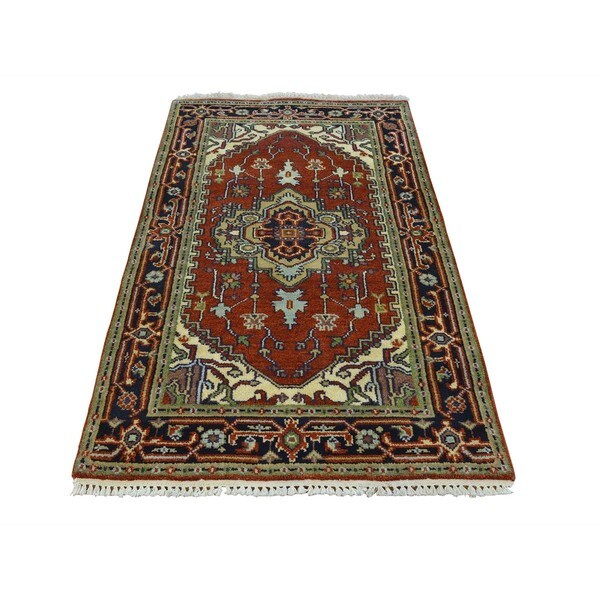 Tribal Design Serapi Heriz Hand Knotted Oriental Rug (3' x 5'1) 16142098
