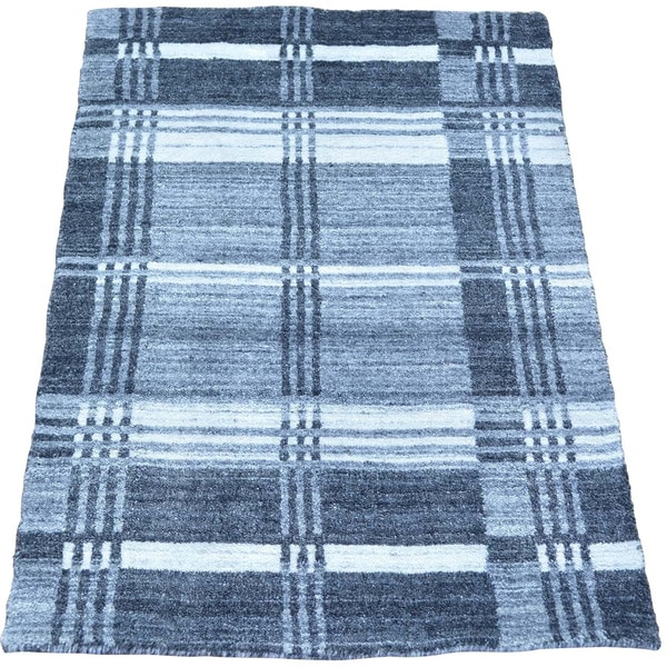 Handmade Modern 100 Percent Wool Oriental Rug (1'10 x 2'10)