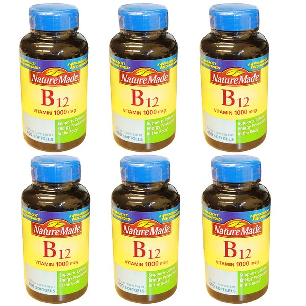 Nature Made 400 Softgels B-12 1000mcg (Pack of 6)