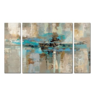 Silvia Vassileva 'Morning Fjord' 3 Piece Multi Panel Art Set