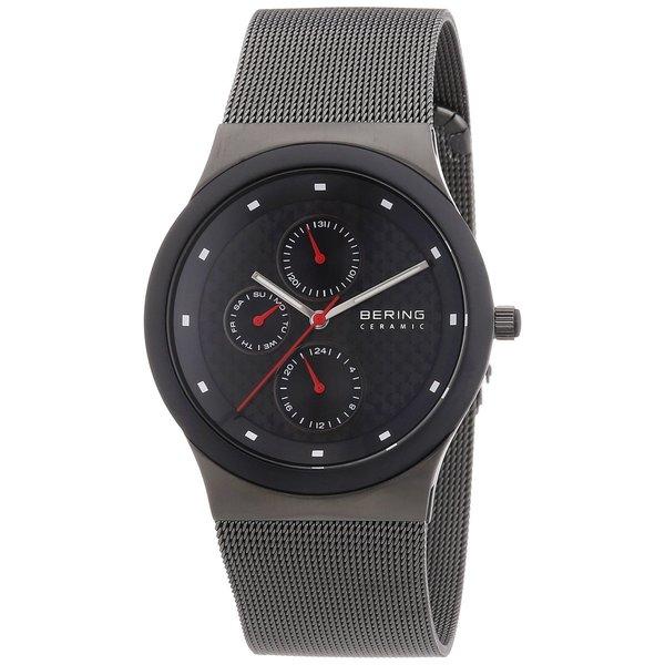 Bering Men's Chrono Ceramic Bezel Black Mesh Stainless Steel Watch 32139-309