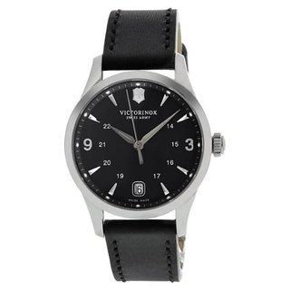 Victorinox Swiss Army Women's Alliance Quartz Black Leather Watch 241542