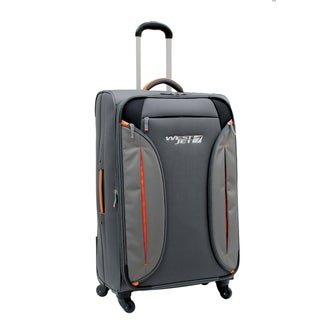 WestJet Feather Lite Grey 28-inch Expandable Lightweight Spinner Suitcase