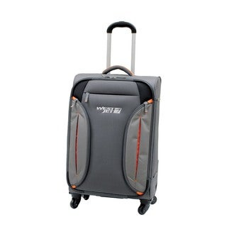 WestJet Feather Lite Grey 24-inch Expandable Lightweight Spinner Suitcase