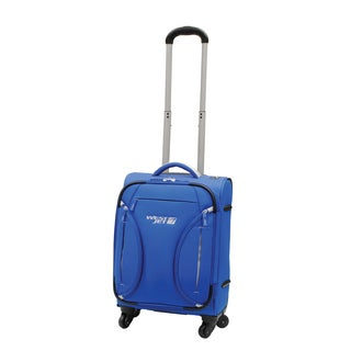 WestJet Feather Lite Blue 18-inch Expandable Lightweight Carry On Suitcase