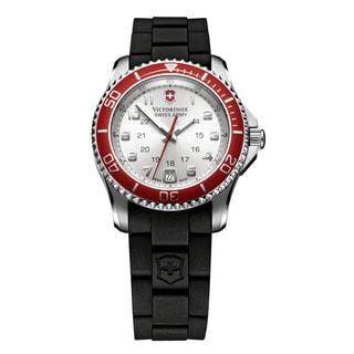 Victorinox Swiss Army Women's Maverick Quartz Black Rubber Watch 241484
