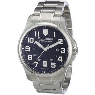 Victorinox Swiss Army Men's Officers Swiss Quartz Stainless Steel Watch 241358