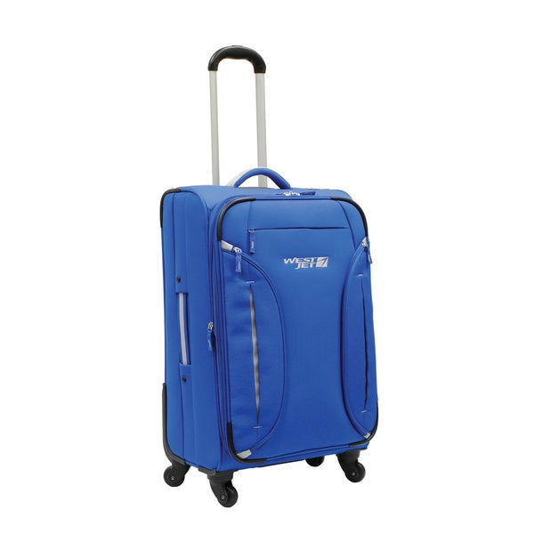 WestJet Feather Lite Blue 24-inch Expandable Lightweight Upright Suitcase