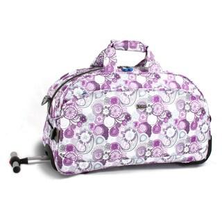 J World Lemon Christy 20-inch Carry-on Rolling Duffel Bag