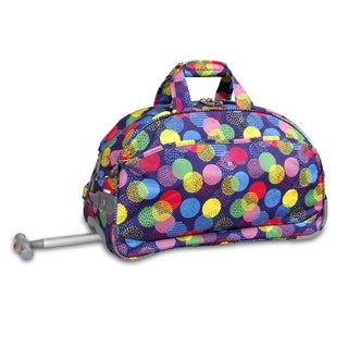 J World Speckle Christy 20-inch Carry-on Rolling Duffel Bag
