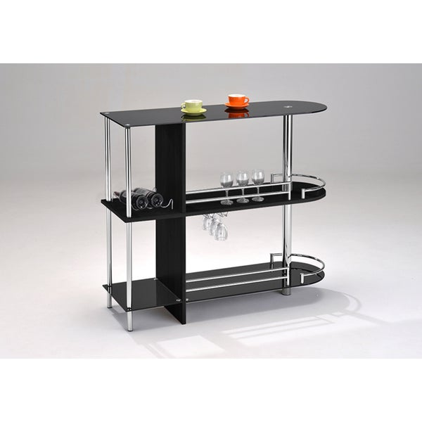 K&B SC-6095-BK Serving Cart