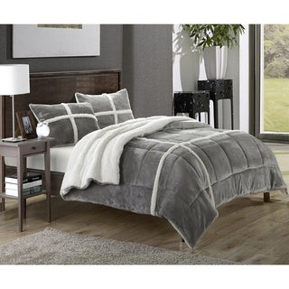 Chic Home Chiron Sherpa Lined Plush Microsuede 3-piece Comforter Set