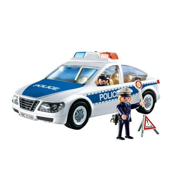 Playmobil Police Car with Flashing Light