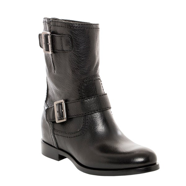 Prada Double Buckle Moto Boots