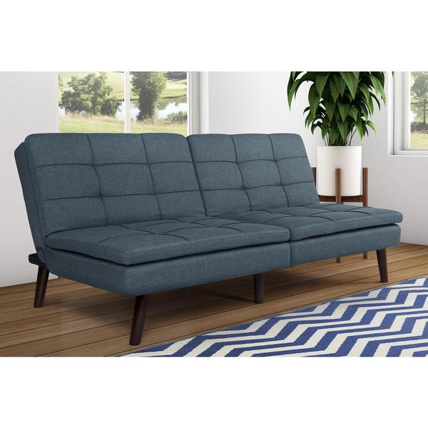 DHP Premium Blue Westbury Linen Pillowtop Futon