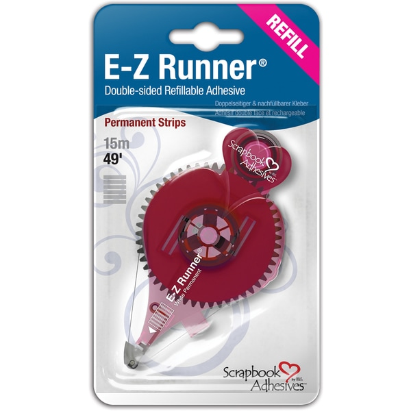 Scrapbook Adhesives EZ Runner RefillPermanent, 49', Use For 12006