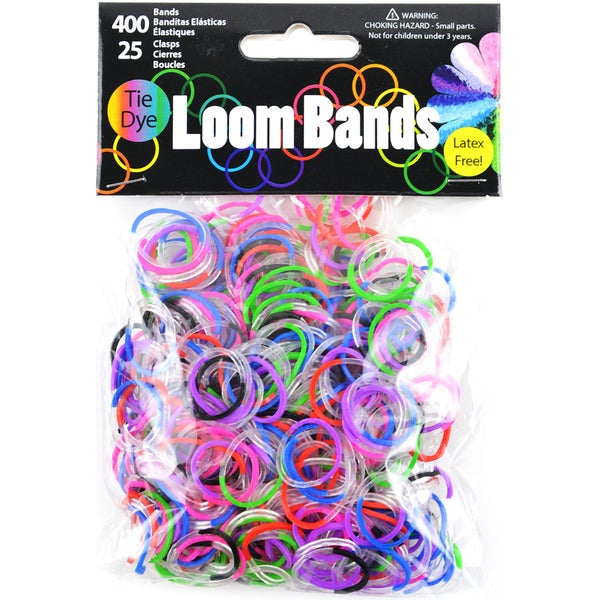 Loom Bands Assortment 425/PkgClear TieDye Multipack
