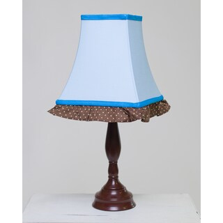 Pam Grace Creations Blue Petals Lamp Shade and Base