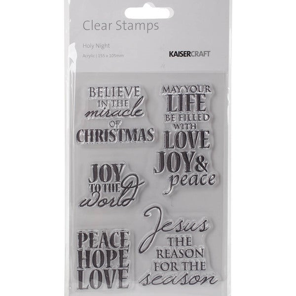 Holy Night Clear Stamps 6.25inX4in