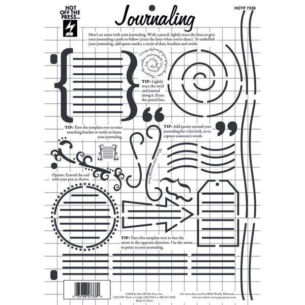 Hot Off The Press Template 8.5inX11inJournaling