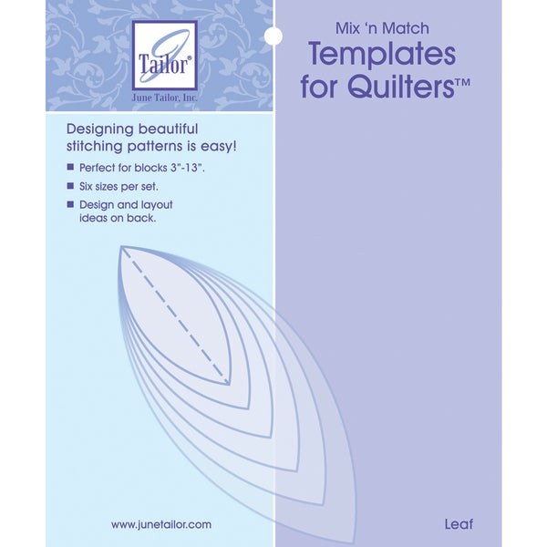 Mix'n Match Templates For Quilters 6/PkgLeaf