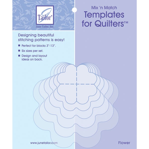 Mix'n Match Templates For Quilters 6/PkgFlower