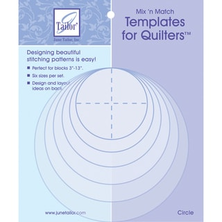 Mix'n Match Templates For Quilters 6/PkgCircle