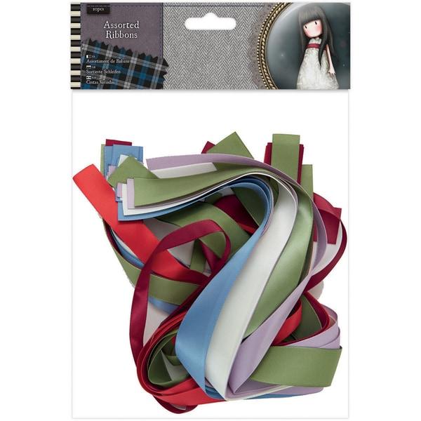 Santoro Tweed Ribbon Pieces 20/Pkg