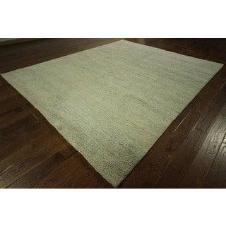Plain Hand-knotted Rabbat Moroccan Wool Area Rug (8' x 10')