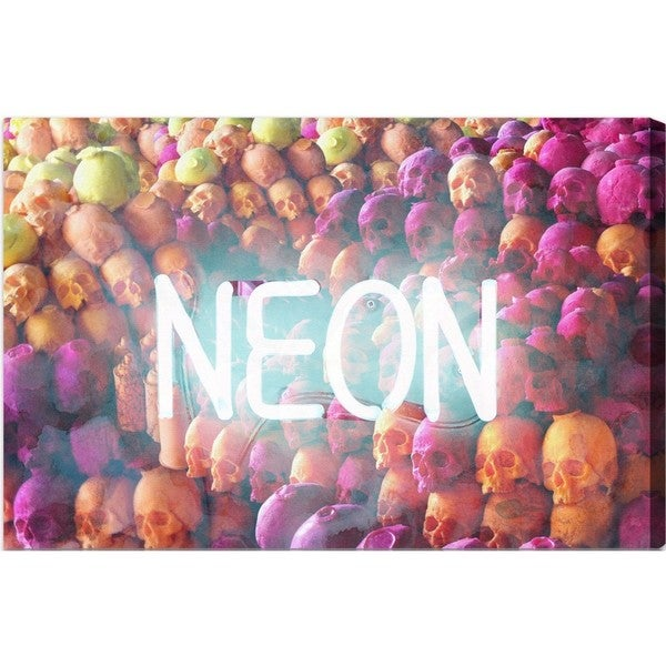 Runway Avenue 'Neon Skulls' Canvas Art