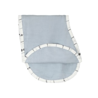 aden + anais Single Moonlight Solid Grey Burpy Bib