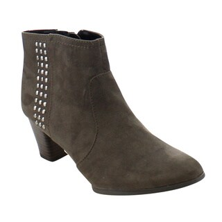 City Snappers Pepper Women's Fashion Stacked Chunky Heel Zipper Ankle Booties