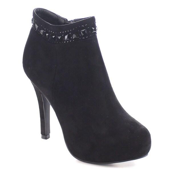 I Heart Collection Naya-02 Women's Almond Toe Stiletto Heel Ankle Booties 16144182